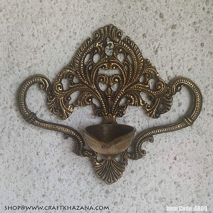 Agnimitra brass wall hanging oil lamp