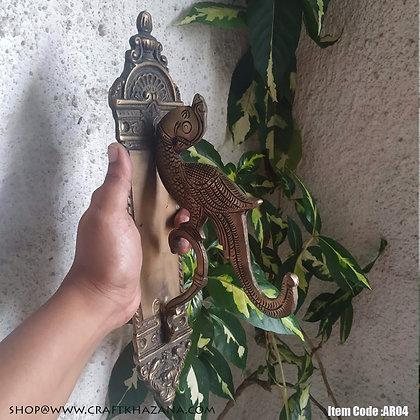 Sanjeevini brass wall hanging hook