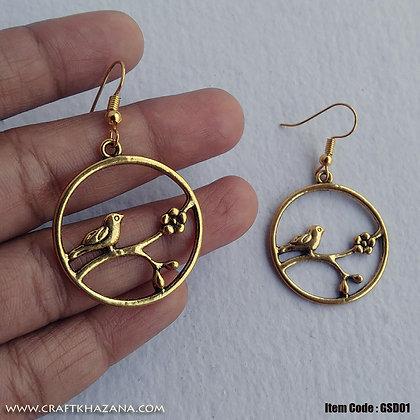Selena, bird shape circular dangler