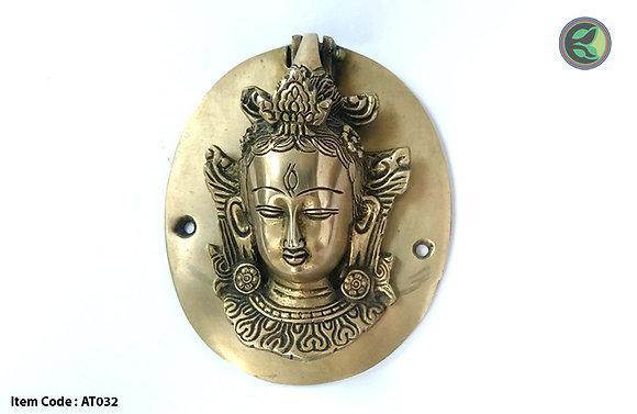 Maya Devi brass door knocker