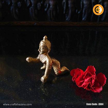 Laddu Gopal brass idol