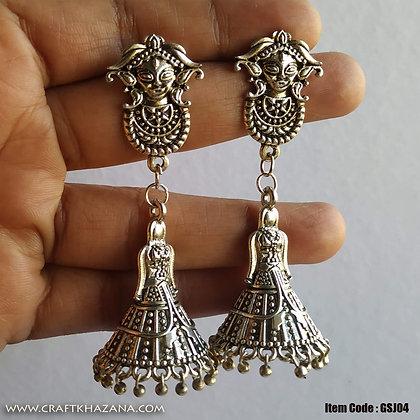 Lavya, Durga and dhandiya shape jhumka