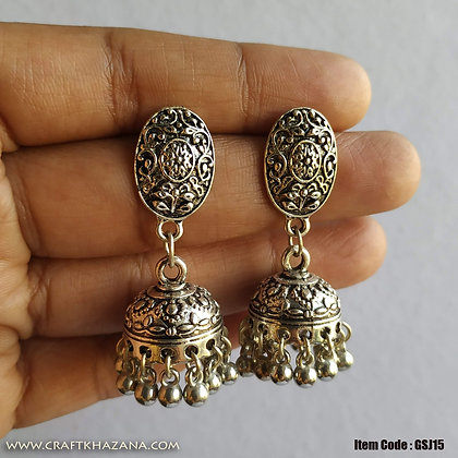 Lavani, german silver small size jhumki