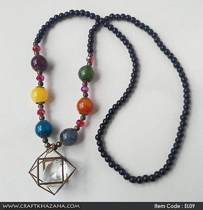 Amulya, multi color beads fashion necklace