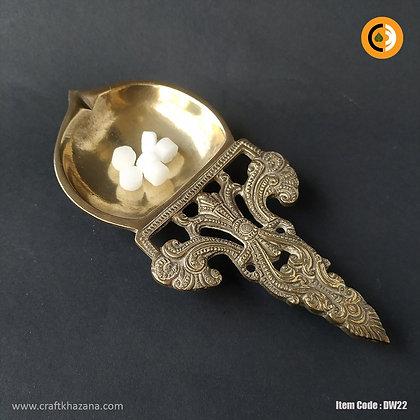 Arundati,antique finish brass arati diya