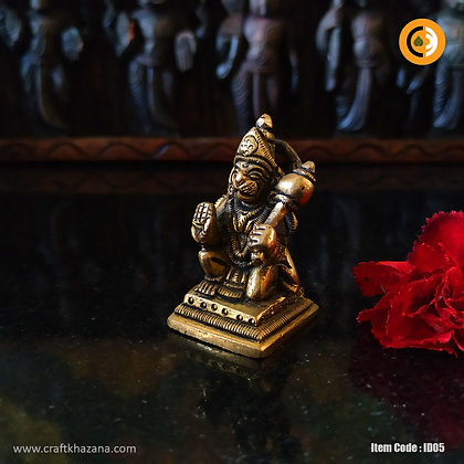 Sri Hanuman brass idol in antique finish