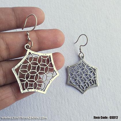 Sofia, hexagonal metal dangler