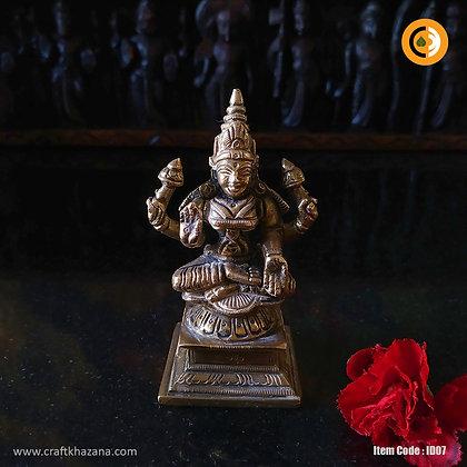 Shri Lakshmi brass idol