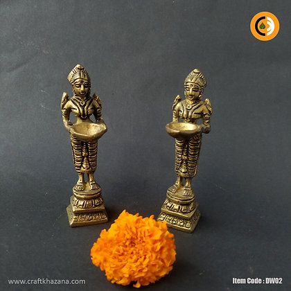 Deepa Laksmi brass lamp holding lady