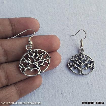Savanna, tree shaped dangler earrings