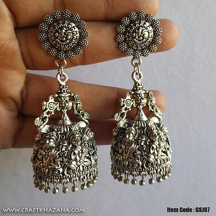 Laksmi Ganesh, German silver big size jhumka