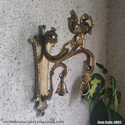 Devajyoti brass wall hanging hook