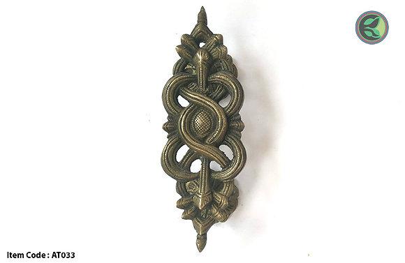 Kurma, brass door handle turtle design