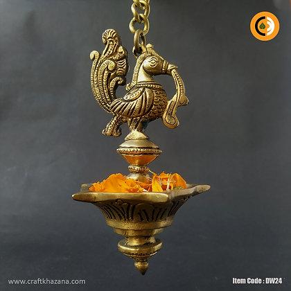 Shubhangi, Hanging brass diya oil lamp