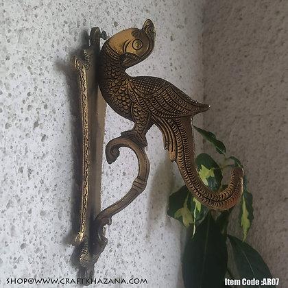 Satyavati brass wall hanging hook