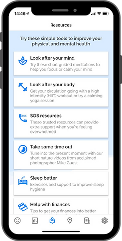 OK Positive app - resources feature