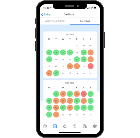 OK Positive app - mood calendar