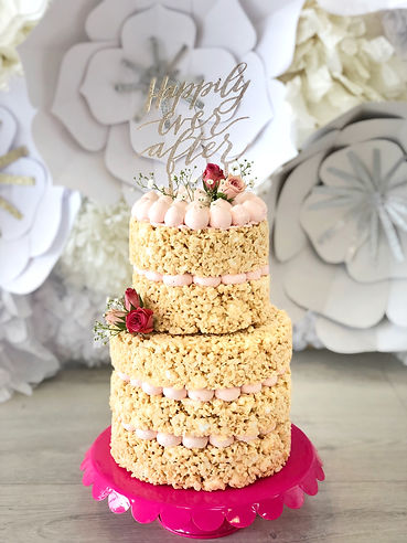Happily Every After Topper Wedding Cake.