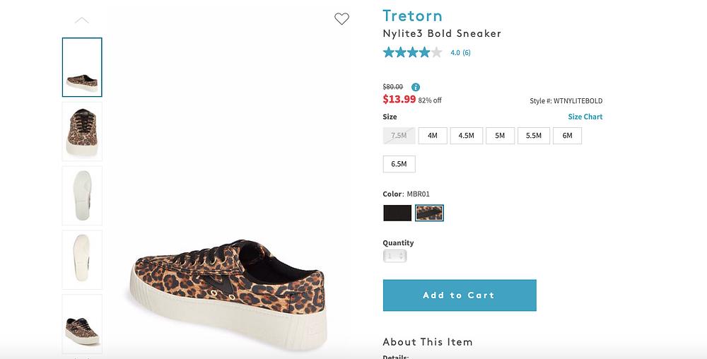 Tretorn Nylite3 Bold Sneaker   $80.00Information $13.9982% off