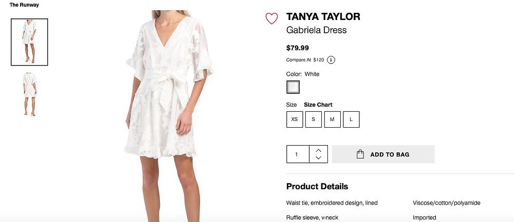 TANYA TAYLOR Gabriela Dress  $79.99