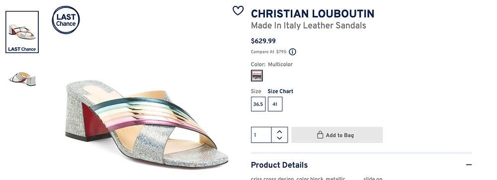 CHRISTIAN LOUBOUTIN Made Silver/Multicolor Arkenmule 55 Rainbow Metallic Heels Sandals $629.99