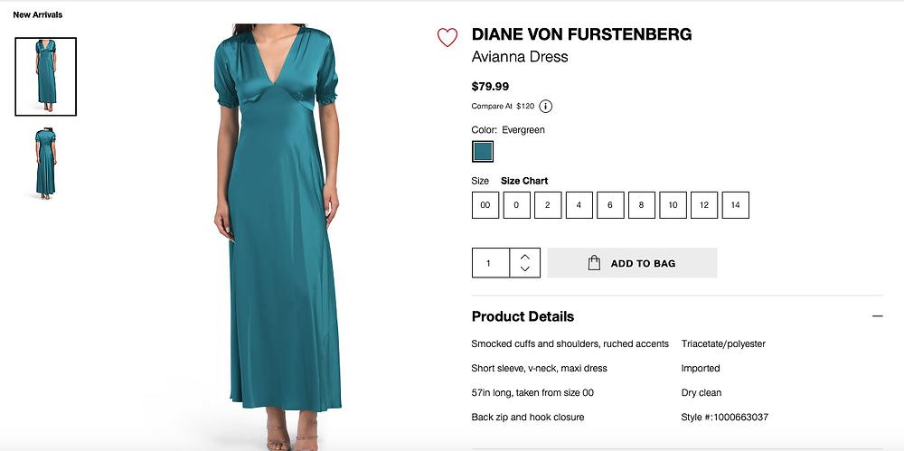 DIANE VON FURSTENBERG Avianna Dress  $79.99