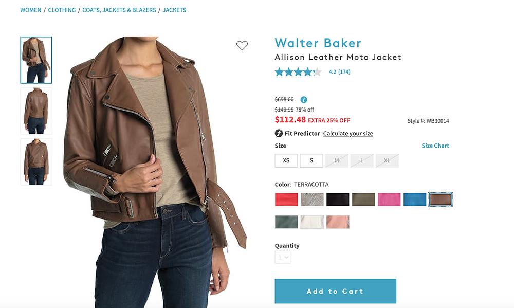 Walter Baker Allison Leather Moto Jacket