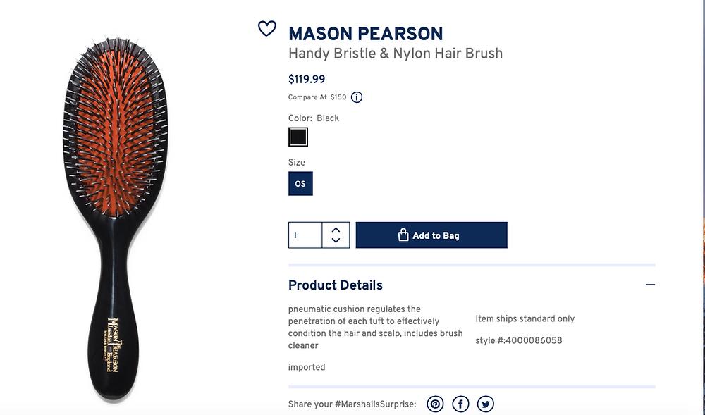 MASON PEARSON Handy Bristle & Nylon Hair Brush  $119.99