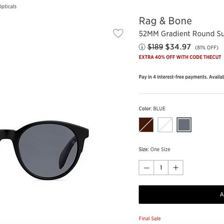 Crazyyyyy Sale On Brand Name Sunglasses At SaksOff5th
