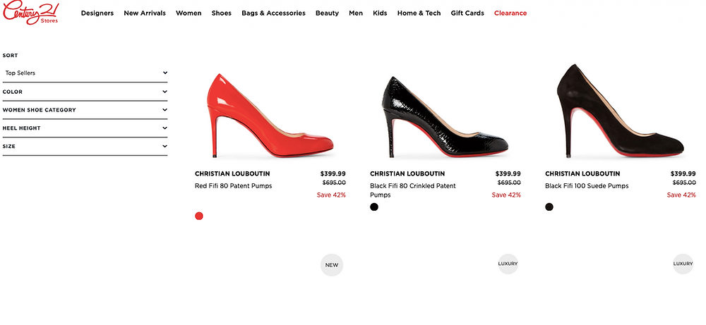 Louboutin Sale At Century 21