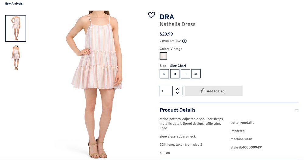 DRA Nathalia Dress  $29.99