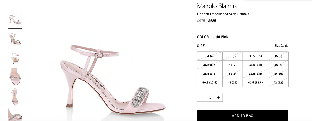 Manolo Blahnik Drinanu Embellished Satin Sandals  Price reduced from  $975 to $585