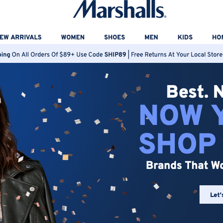Marshalls has an online store now!