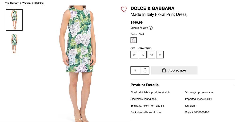 Dolce & Gabbana Hydrangea Sleeveless Brocade Minidress