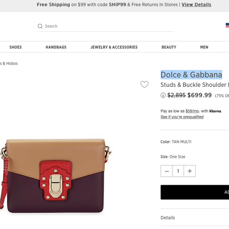 Dolce & Gabbana Bag At 75% OFF And Other Great Deals