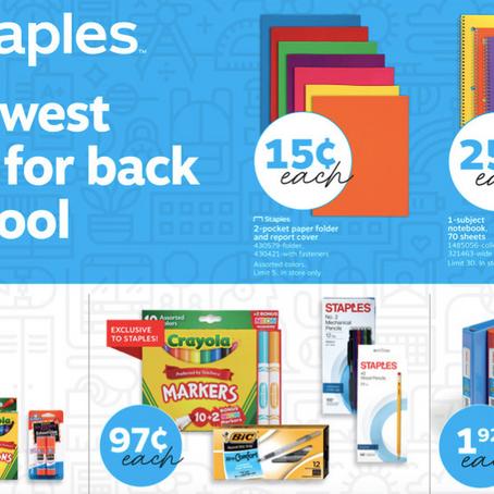 Staples Back to School Deals 08/04-08/10