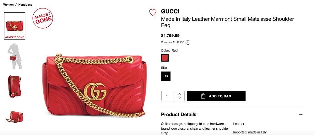 GUCCI Made In Italy Leather Marmont Small Matelasse Shoulder Bag  $1,799.99