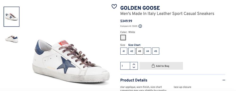 Golden Goose  Men's Super-Star Sneakers in White Night color $349.99