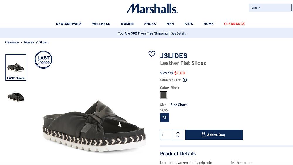 J/SLIDES Leather Flat Slides