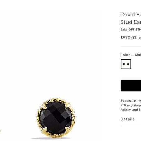 David Yurman Earrings 40% Off Deal