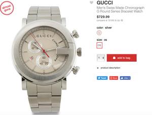 GUCCI Men's Swiss Made Chronograph G Round Series Bracelet Watch