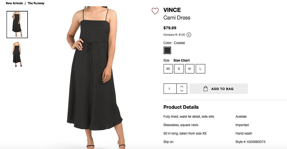 VINCE Cami Dress  $79.99