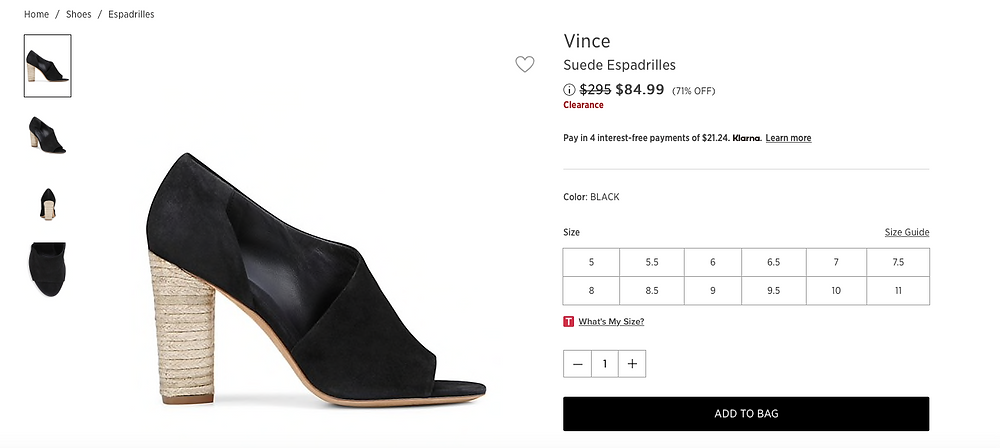 Vince Suede Espadrilles  Price reduced from $295 to  $84.99 (71% OFF)