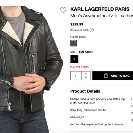 Leather Jackets Galore At TJMaxx And Marshalls