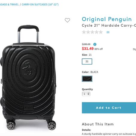 Original Penguin Suitcases On Sale At NordstromRack For $31.49