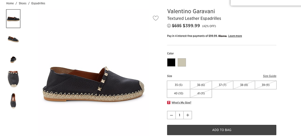 Valentino Garavani Textured Leather Espadrilles