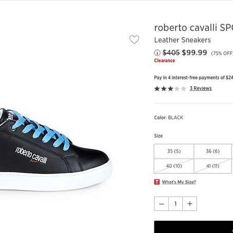 Roberto Cavalli Sneakers On Clearance Up To 77% Off At SaksOff5th