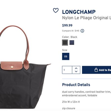Longchamp Le Pliage Handbags At Marshalls Starting From $79.99