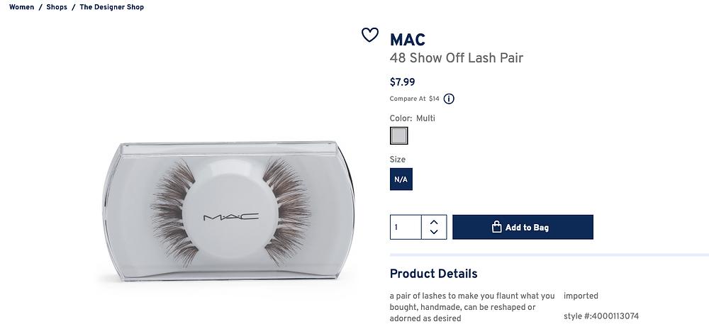 MAC 48 Show Off Lash Pair  $7.99