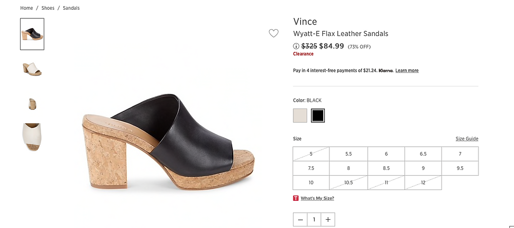 Vince Wyatt-E Flax Leather Sandals Price reduced from $325 to $84.99 (73% OFF)